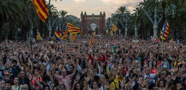 Proteste masive în Catalunia, la un an după referendumul separatist