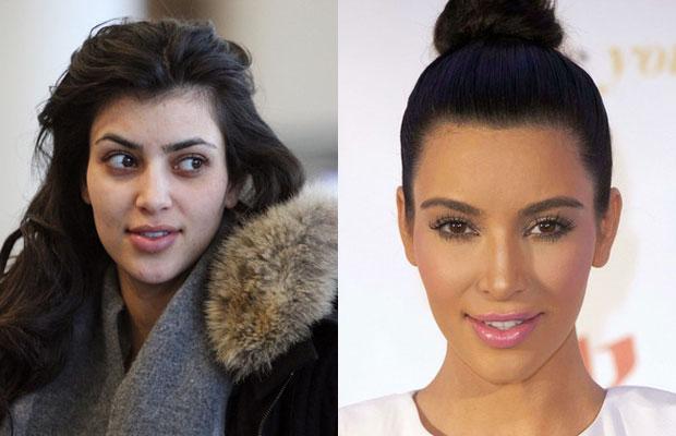 Kim Kardashian fără machiaj