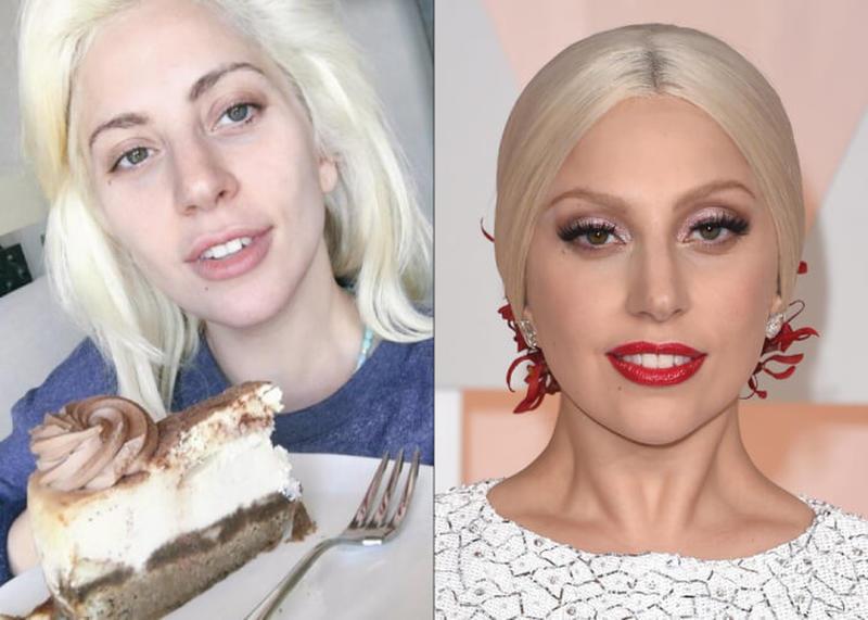 Lady Gaga fără machiaj